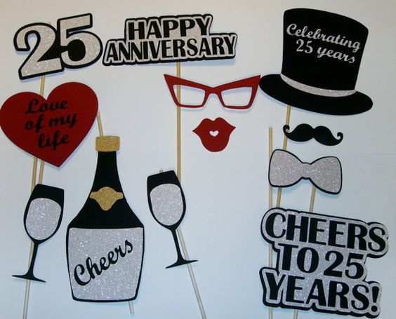 25 Years Wedding Anniversary Gifts Idea: 25th Anniversary Photo Prop / Silver Anniversary/ By
