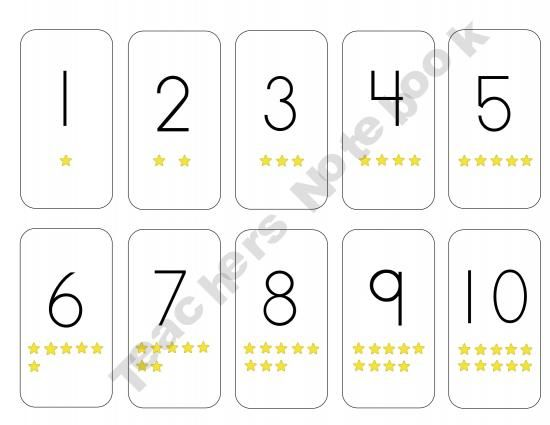 Number Cards 1 - 10