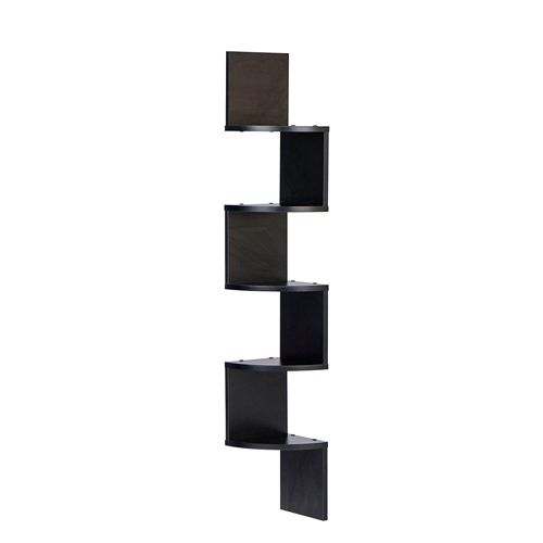 Danya B Xf11035bk Large Decorative 5 Tier Corner Floating Wall Mount Display Shelving Unit Wall Mounted Shelves Corner Shelves Wall Mounted Corner Shelves