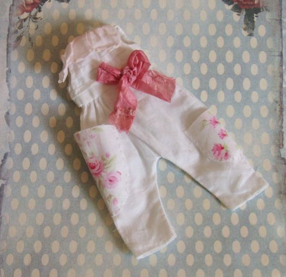 OOAK Custom Blythe Takara Neemo 1/6 BJD Doll Romper Overalls Hosen Overall weiß…