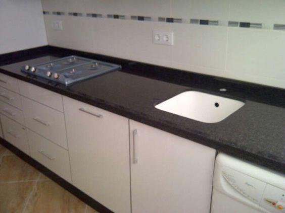 Granito Negro Sudáfrica. | Encimeras Granito | Pinterest | Granito ...