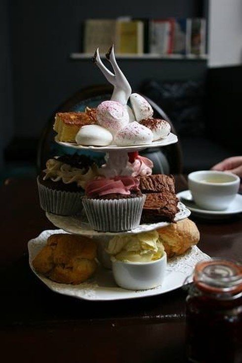 """Bea's of Bloomsbury - An afternoon tea with *two* types of brownie? Yes please. For a more casual affair, you can also opt to have """"sweet tea"""", which is afternoon tea without the sandwiches, with no reservation necessary."""