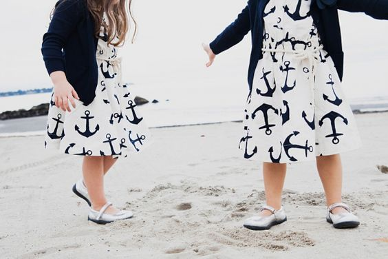 flower girl dresses for a nautical-themed wedding