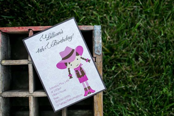 Cowgirl Birthday | Unique Moments | Custom Wedding Invitations and More