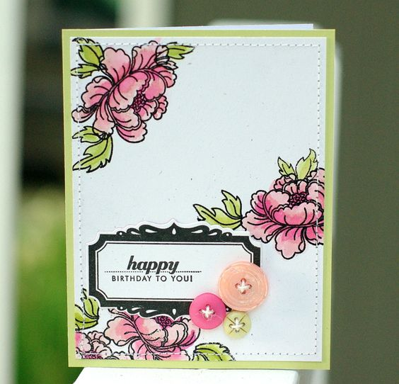 to the full: Pink floral cards
