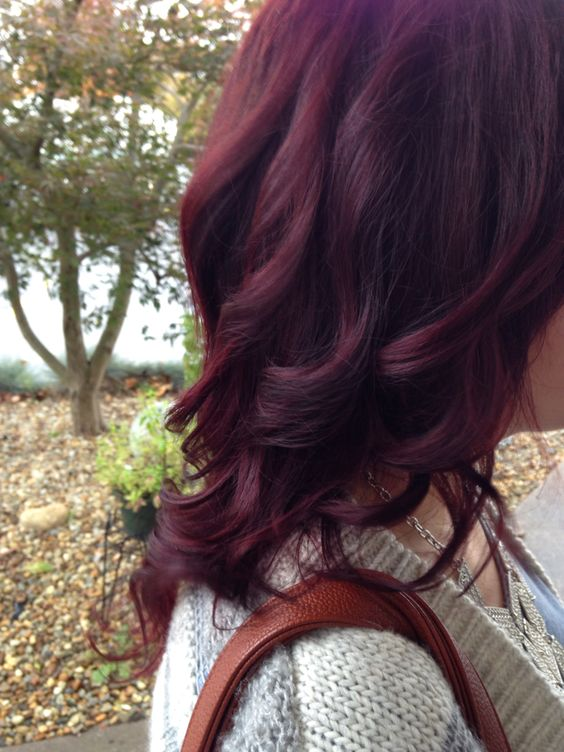 Fall red hair cherry cola organic color systems: