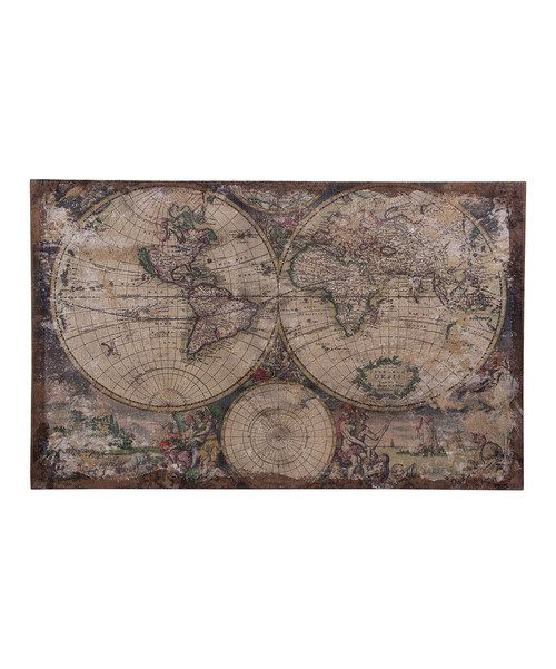 Take a look at the World Map Wall Art on #zulily today!