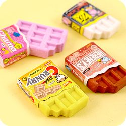 Kawaii Bitten Chocolate Bar Eraser