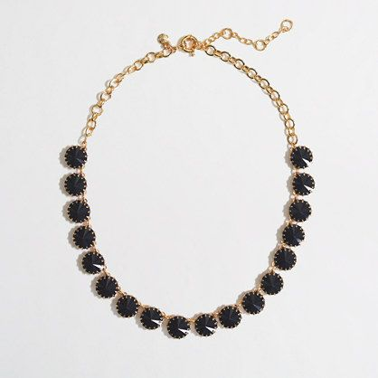 Navy, sparkles can dress up or down, J.Crew Factory - Factory brass-plated crystal necklace