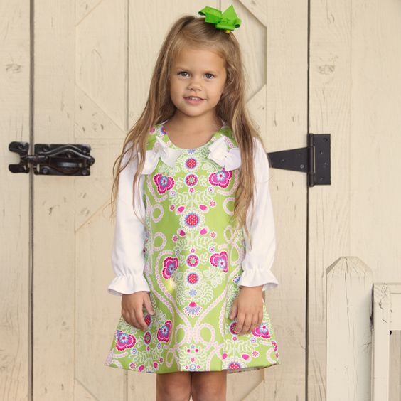 Lolly Wolly Doodle Lime Floral Aline 9/13