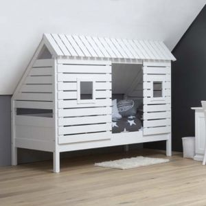 Kinderbett baumhütte  Spielbett Kinderbett BAUMHÜTTE für schräge Wände/Dachschrägen ...
