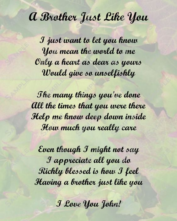 I Love My Brother Poems And Quotes I Lost My Brother Poem...
