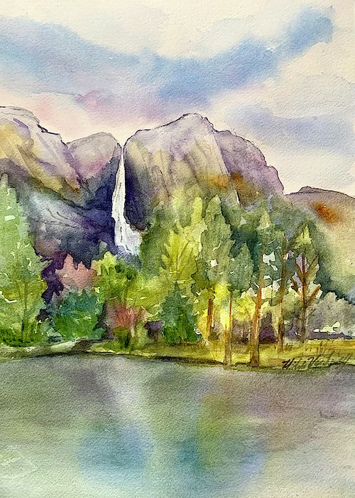 Yosemite Waterfalls By Hilda Vandergriff In 2020 Yosemite