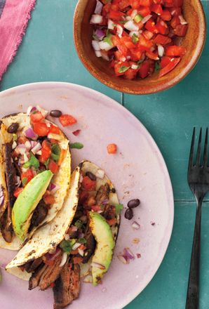 Tacos de Carne Asada by chef Julieta Ballesteros.