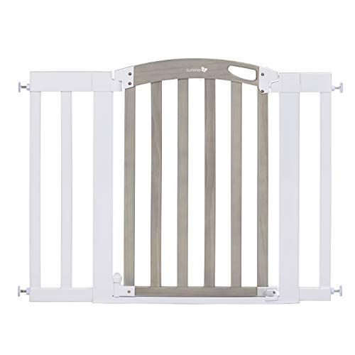Summer Infant Chatham Post Safety Gate For Doorways Stairways With Auto Close Hold Open Grey Wash White 28 5 42 Inch In 2020