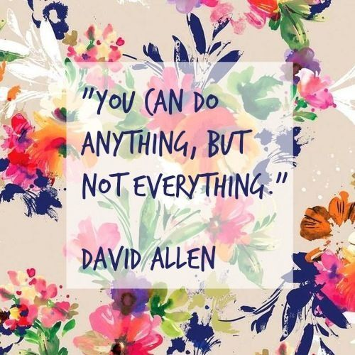 You can do anything, but not everything.: