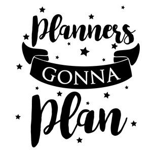 Silhouette Design Store - View Design #179908: planners gonna plan