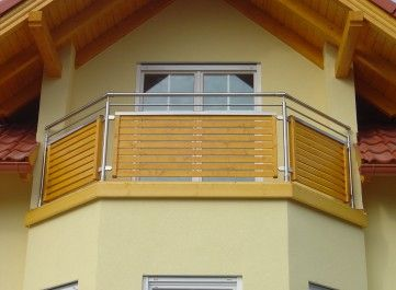 balkongel nder edelstahl holz balkon dachterrassen pinterest. Black Bedroom Furniture Sets. Home Design Ideas