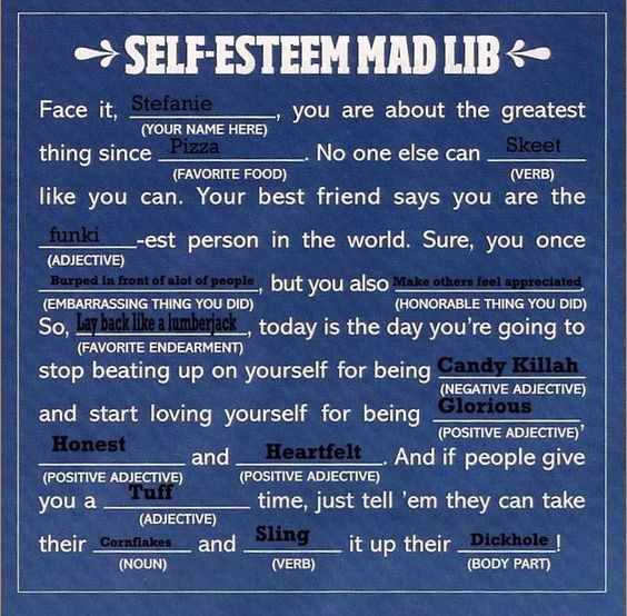 Self esteem teen group activities