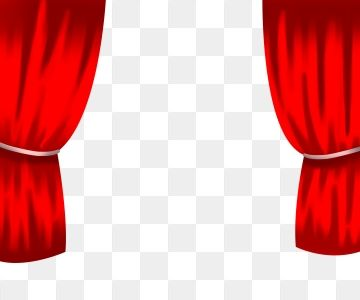 Red Stage Curtain Stage Curtain Curtain Illustration Hand Drawn