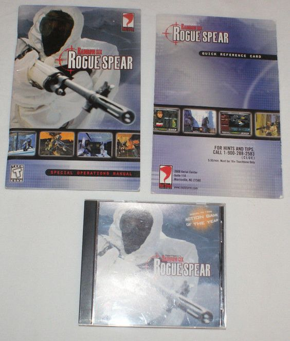 Tom Clancy's Rainbow Six: Rogue Spear (PC, 1999) windows shooter action game