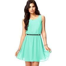 lindo vestido verde agua