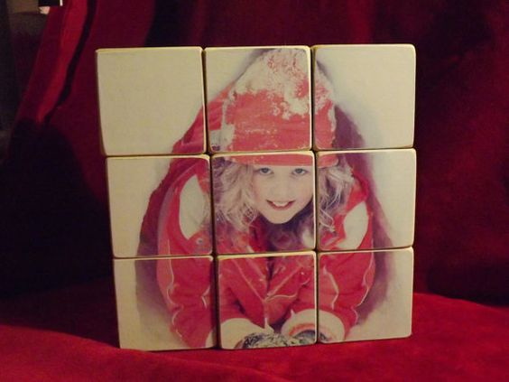Custom Wood Photo Block Puzzle Valentine Gift by designsbyterri, $45.00