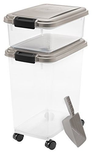 Pet Food Container 3-Piece Airtight BPA-Free Clor: Chrome