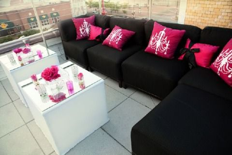 Living Room Transformation For Black White And Pink Party. Get Couch Covers  Andd Pillows To Match The Decor At Target !   Parties. Part 3