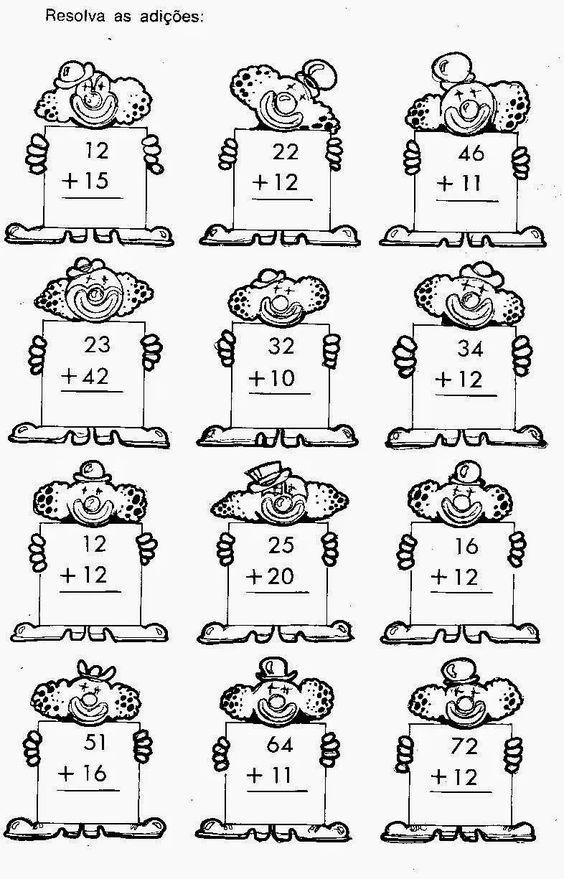50 Atividades De Adicao Para Imprimir Educacao Infantil