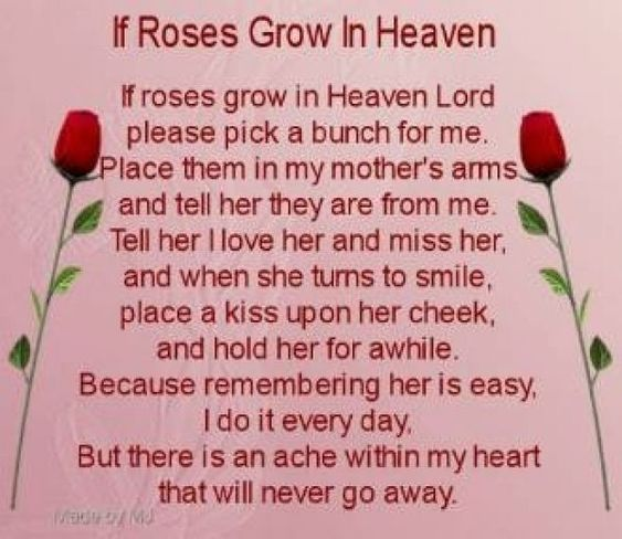 Mother Has Passed Away Quotes: Mothers Day Poem For My Mom Who Passed Away My Mother