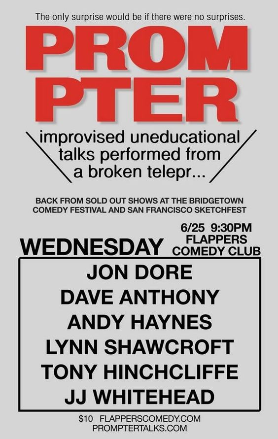 Visit Flappers in Burbank TONIGHT 6/25 for a Prompter Party!
