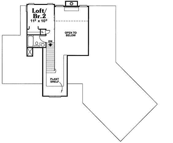 - 41515DB | 1st Floor Master Suite, CAD Available, Craftsman, Loft, PDF | Architectural Designs