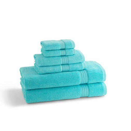 Leopoldo 6 Piece Towel Set Towel Set Bath Towel Sets Egyptian