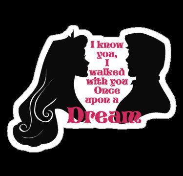 Sleeping Beauty Once upon a dream sticker by MyHeartHasEars, $3.99