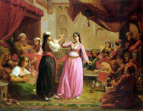 An Evening's Entertainment- Clément, Félix Auguste -metà XIX secolo - (1826-1888)