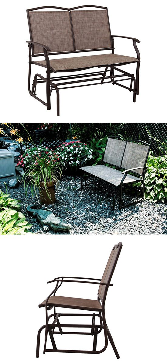 Phi Villa Patio Swing Glider Bench For 2 Persons Rocking Chair Patio Swing Glider Chair Rocking Chair