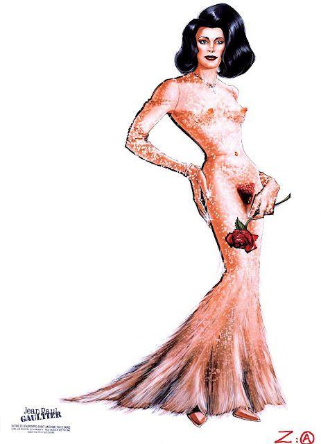 Jean Paul Gaultier, Costume sketch for Gael García Bernal's character in Bad Education (La mala educación), directed by Pedro Almodóvar, 2004 © Jean Paul Gaultier