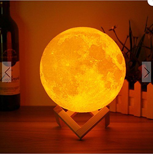 15cm 3d Magical Two Tone Moon Lamp Usb Charging Luna Led Night Light Touch Sensor Gift By Superjune In 2020 Moon Light Lamp Mood Lamps Led Night Light