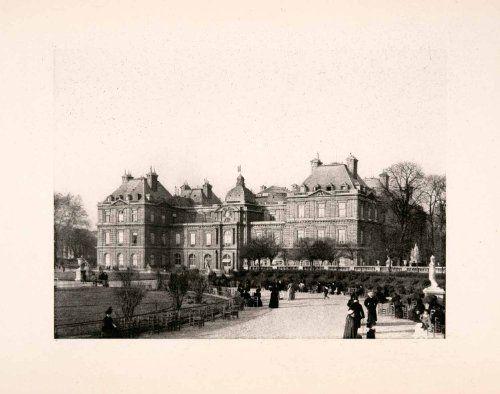 1904 Photogravure Luxembourg Palace Paris French Senate Architecture Scene Path - Original Photogravure Period Paper,http://www.amazon.com/dp/B007IY0LD2/ref=cm_sw_r_pi_dp_1mFgtb19BJ3QE57D