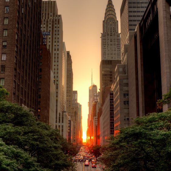 from Tudor City Place, looking west down 42nd St. NYC