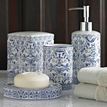 Kassatex Orsay Blue Bath Accessories | Gracious Style