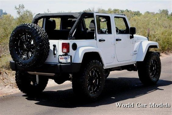 My Ride :)!!! lifted white jeep wrangler unlimited World Car Models #JEEP http://www.wheelhero.com/topics/Jeep-Wheels-For-Sale