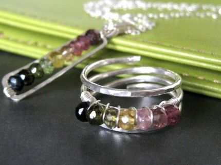tourmaline ring & pendant