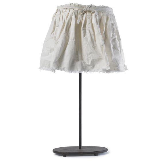 Lamp w/shade, h-71, white fabric http://kikiandandersen.com
