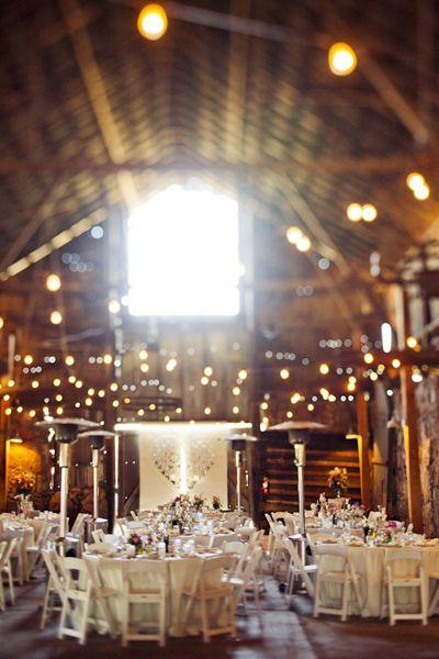 Barn wedding decor.