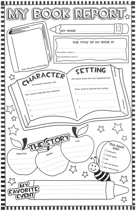 Free Book Report Template Is Perfect For Kindergarten St Grade