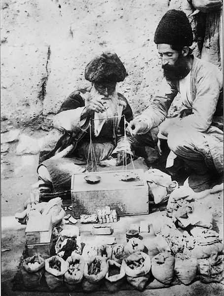Merchants by Antoin Sevruguin