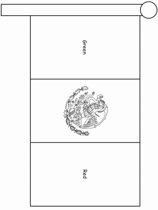 Mexican Flag Coloring Page Luxury Printable Mexico Flag Coloring Pages For  Kids Flag Coloring Pages, Mexican Flags, Mexico Flag