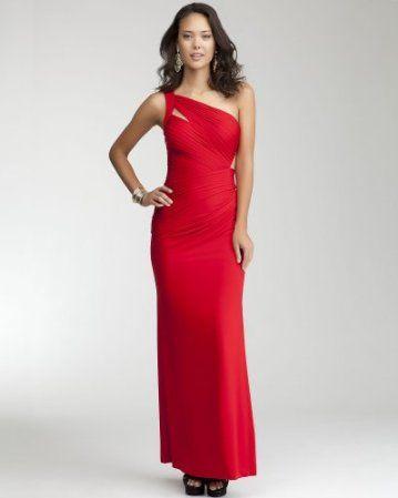 Long one shoulder cutout dress